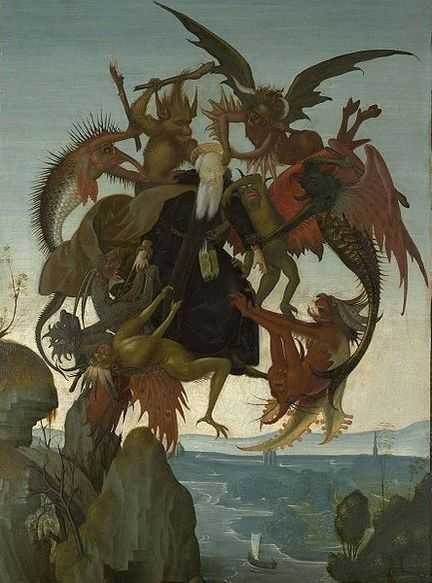 The Torment of Saint Anthony by Michelangelo circa 1487-1488