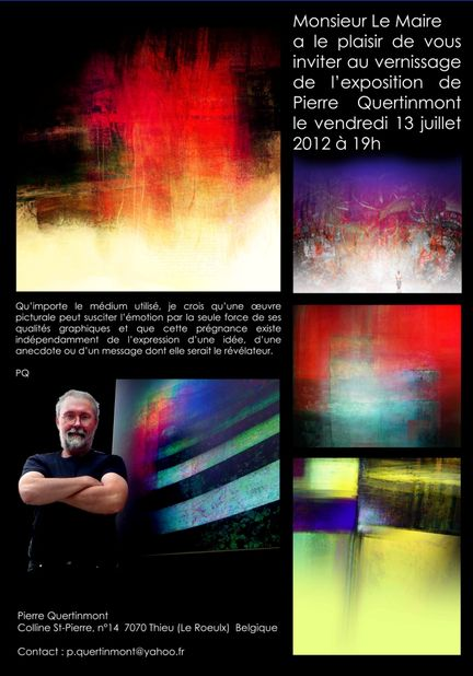 Pierre Quertinmont - Digital Art - exposition 2012 à Gigondas - Vaucluse