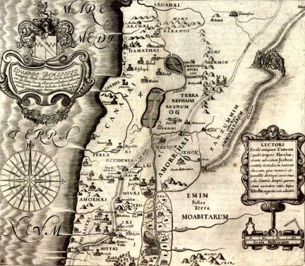 Fuller, Thomas, 1608-1661 - Map of the old Canaan - Londres 1650