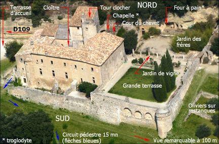 Vue aérienne de l'abbaye Saint-Hilaire - Photo Jean Marc Rosier