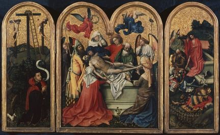 The Seilern Triptych - The Entombment - Circa 1425 - The Courtauld Gallery, London
