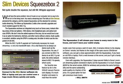 Squeezebox 2 sans Wi-Fi