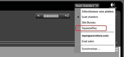 Squeezebox Server : SqueezePlay