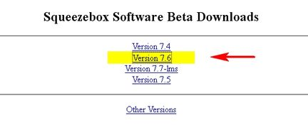Squeezebox Software Beta Downloads